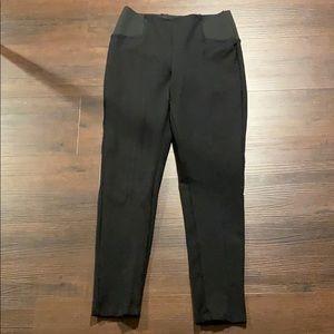 Zara Black Pleated Leggings (Size Small)